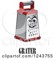Clipart Of A Happy Grater With Text Royalty Free Vector Illustration