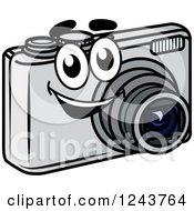Clipart Of A Happy Camera Mascot Royalty Free Vector Illustration by Vector Tradition SM