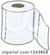 Clipart Of A Toilet Paper Roll Royalty Free Vector Illustration