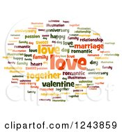 Clipart Of A Love Tag Word Collage On White Royalty Free Illustration by oboy