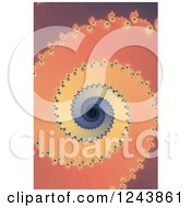 Clipart Of A Spiraling Mandelbrot Fractal Background Royalty Free Illustration