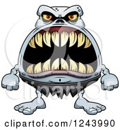 Clipart Of A Ghoul Monster With Big Teeth Royalty Free Vector Illustration by Cory Thoman