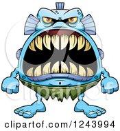 Fish Monster With Big Teeth