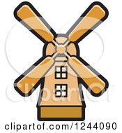 Clipart Of A Windmill Royalty Free Vector Illustration