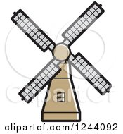Clipart Of A Windmill 2 Royalty Free Vector Illustration