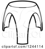 Clipart Of A Black And White Tripod Stool 3 Royalty Free Vector Illustration by Lal Perera