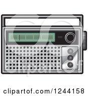 Clipart Of A Pocket Radio Royalty Free Vector Illustration by Lal Perera