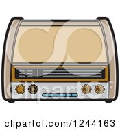 Clipart Of A Retro Radio 2 Royalty Free Vector Illustration by Lal Perera