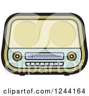 Clipart Of A Retro Radio 3 Royalty Free Vector Illustration by Lal Perera