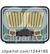 Clipart Of A Retro Radio 4 Royalty Free Vector Illustration by Lal Perera