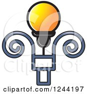 Clipart Of A Street Lamp Post 3 Royalty Free Vector Illustration by Lal Perera