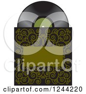 Clipart Of A Phonograph Gramophone Vinyl Record And Sleeve Royalty Free Vector Illustration by Lal Perera