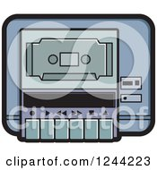 Clipart Of A Cassette Tape In A Player Royalty Free Vector Illustration by Lal Perera
