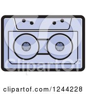 Clipart Of A Purple Cassette Tape Royalty Free Vector Illustration by Lal Perera