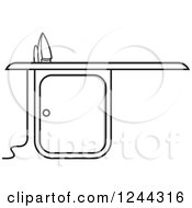 Clipart Of A Black And Gray Ironing Board Royalty Free Vector Illustration