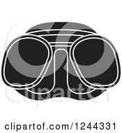 Clipart Of Black And White Diving Goggles 2 Royalty Free Vector Illustration