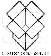 Black And White Open Cardboard Box