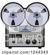 Clipart Of A Vintage Tape Or Film Recorder Royalty Free Vector Illustration