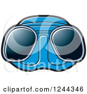 Clipart Of Blue Diving Goggles Royalty Free Vector Illustration