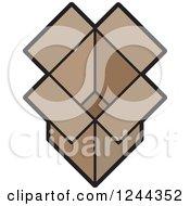 Brown Open Cardboard Box
