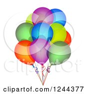 Clipart Of A Bunch Of Colorful Party Balloons Royalty Free Illustration