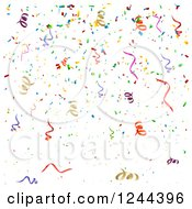 Clipart Of A Colorful Confetti Background Royalty Free Vector Illustration