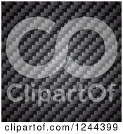 Clipart Of A Carbon Fiber Texture Royalty Free Vector Illustration