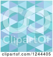 Clipart Of A Blue Abstract Geometric Background Royalty Free Vector Illustration by vectorace