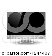 Clipart Of A 3d Computer Monitor Royalty Free Vector Illustration