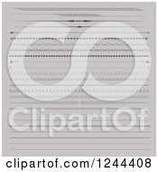 Clipart Of Divider Rule Borders On Gray Royalty Free Vector Illustration