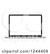 Clipart Of A 3d Laptop Computer Royalty Free Vector Illustration by vectorace