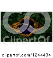 Clipart Of A 3d Dark And Crumpled Brazilian Flag Royalty Free Illustration