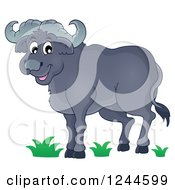 Clipart Of A Happy African Bull Royalty Free Vector Illustration by visekart