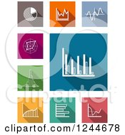 Clipart Of Colorful Graphs And Charts Royalty Free Vector Illustration by Vector Tradition SM