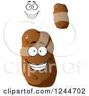 Clipart Of A Happy Potato Character Royalty Free Vector Illustration