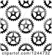 Clipart Of A Seamless Pattern Background Of Gears Royalty Free Vector Illustration