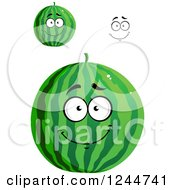 Clipart Of Watermelons Royalty Free Vector Illustration
