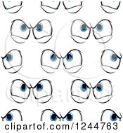 Clipart Of A Seamless Pattern Background Of Mad Eyes Royalty Free Vector Illustration by Vector Tradition SM