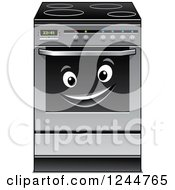 Clipart Of A Happy Oven Character Royalty Free Vector Illustration by Vector Tradition SM