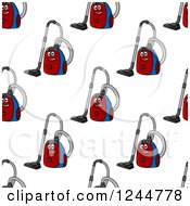 Clipart Of A Seamless Pattern Background Of Vacuums Royalty Free Vector Illustration by Vector Tradition SM