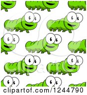 Clipart Of A Seamless Pattern Background Of Caterpillars Royalty Free Vector Illustration by Vector Tradition SM