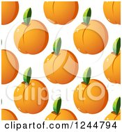 Clipart Of A Seamless Apricot Background Royalty Free Vector Illustration