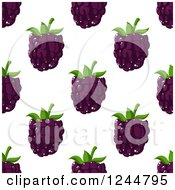 Clipart Of A Seamless Blackberry Background Royalty Free Vector Illustration by Vector Tradition SM