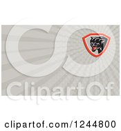 Clipart Of A Gray Ray Panther Background Or Business Card Design Royalty Free Illustration