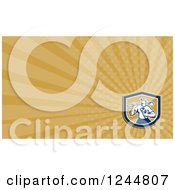 Clipart Of A Drainlayer Background Or Business Card Design Royalty Free Illustration by patrimonio