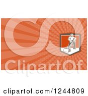 Clipart Of A Carpet Cleaner Background Or Business Card Design Royalty Free Illustration