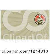 Poster, Art Print Of Carpenter Background Or Business Card Design