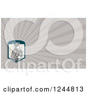 Clipart Of A Gray Ray Bagpiper Background Or Business Card Design Royalty Free Illustration by patrimonio