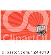 Clipart Of A Red Maori Mask Background Or Business Card Design Royalty Free Illustration