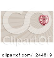 Clipart Of A Maori Mask Background Or Business Card Design Royalty Free Illustration